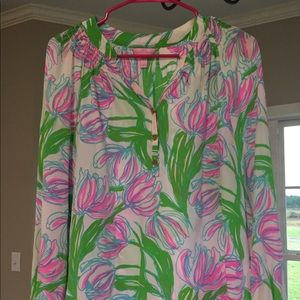 """Lilly Pulitzer Elsa Top in """"Ring the Bell Boy"""""""